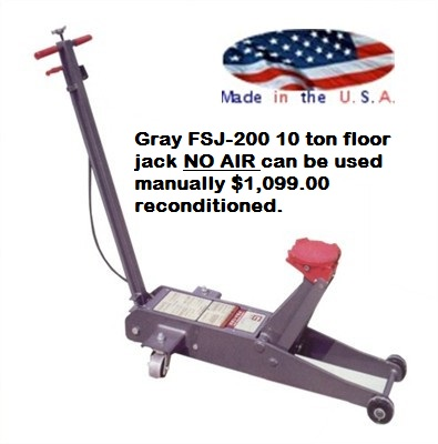 Air service jack reconditioned for 10 ton air hydraulic floor jack