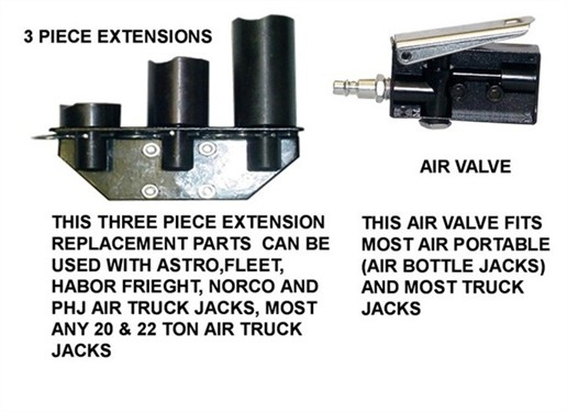 Phjjacks Com Air Truck Jack Replacement Parts